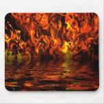 Lago del fuego tapete de ratones