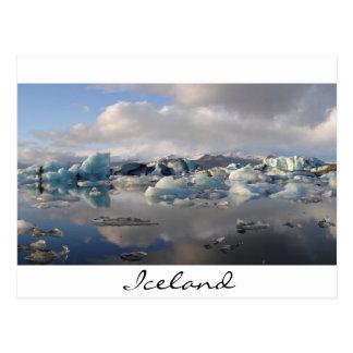 Lago del glaciar de Jokulsarlon en Islandia Postales