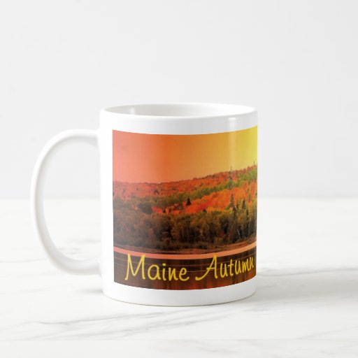 lago del otoño taza de café