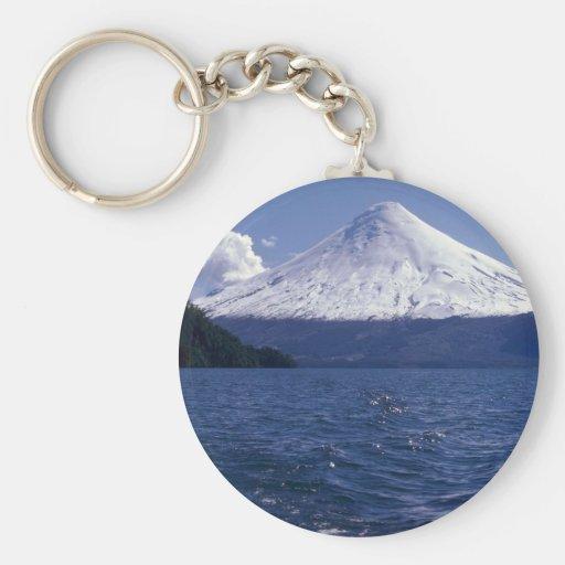Lago del volcán de Osorno y Todo Los Santos, Chile Llavero Personalizado