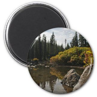 Lago devils, curva, Oregon Imán Redondo 5 Cm