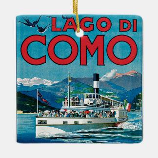 Lago di Como Ceramic Ornament