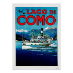 Lago di Como Lake Italy Vintage Travel Posters