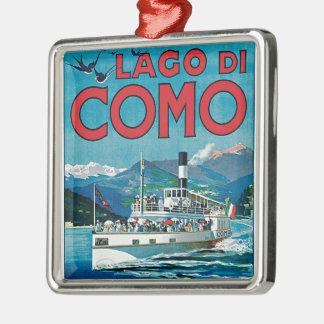 Lago di Como Metal Ornament