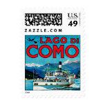 Lago di Como Postage Stamp
