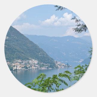 Lago di Como Round Sticker