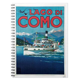 Lago di Como Spiral Notebook
