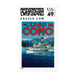 Lago Di Como Vintage Travel Poster Postage