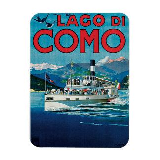 Lago Di Como Vintage Travel Poster Rectangular Photo Magnet