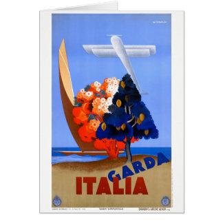 Lago di Garda Lake Garda Italy Vintage Poster Card