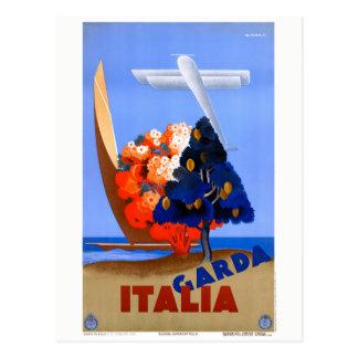 Lago di Garda Lake Garda Italy Vintage Poster Postcard