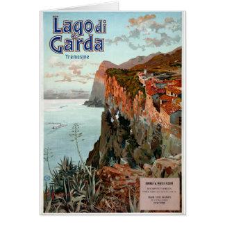 Lago di Garda Lake Garda Vintage Poster Card