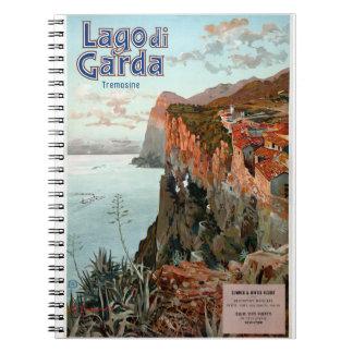 Lago di Garda Lake Garda Vintage Poster Notebook