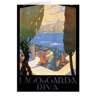 Lago di Garda Lake Garda Vintage Poster Restored Card