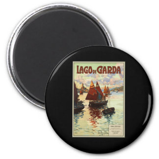 Lago di Garda 2 Inch Round Magnet