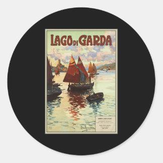 Lago di Garda Round Stickers