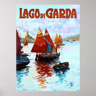 Lago di Garda ~ Vintage Italian Travel Poster