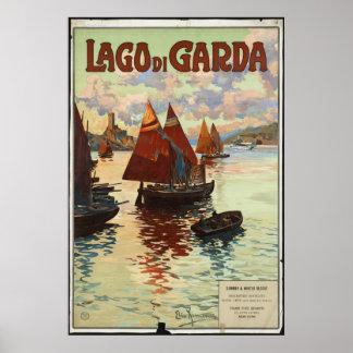 Lago di Garda Vintage Travel Poster Ad Retro Print