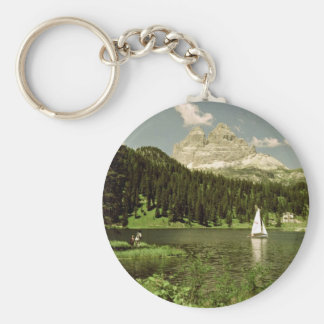Lago di Misurina and Lavaredo Peaks, Dolomites, It Keychains