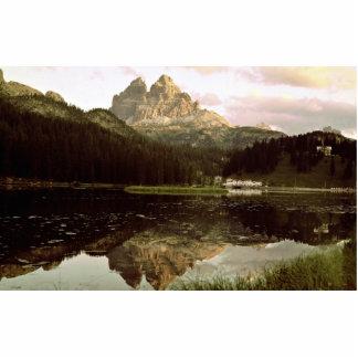 Lago di Misurina y picos de Lavaredo dolomías él Esculturas Fotográficas