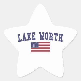 Lago digno de bandera de los E.E.U.U. Pegatina En Forma De Estrella