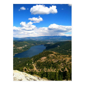 Lago Donner CA Tarjeta Postal