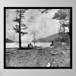 Lago Donner, Daguerreotype 1852 de CA Póster