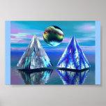 Lago dual pyramid impresiones