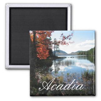Lago eagle, otoño, parque nacional del Acadia, Mai Imán Cuadrado