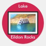 Lago Eildon Pegatina Redonda