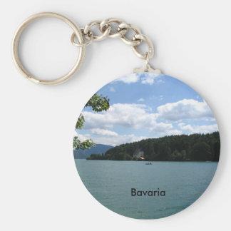 Lago en Baviera superior Llavero Redondo Tipo Pin