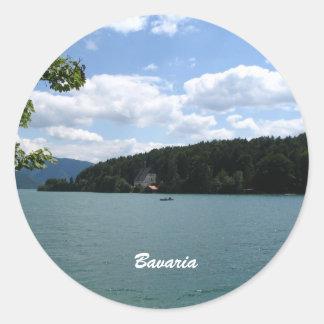 Lago en Baviera superior Pegatina Redonda