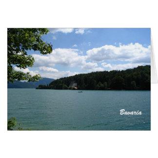 Lago en Baviera superior Tarjeta Pequeña
