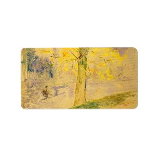 Lago en Bois de Boulogne de Berthe Morisot Etiqueta De Dirección