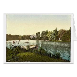 Lago en el jardín público, Karlsruhe, Baden, Alema Tarjetas