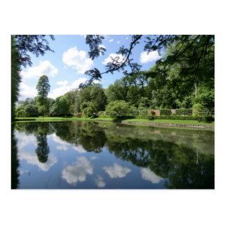 Lago en Erddig Pasillo cerca de Wrexham Postales