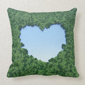Lago en forma de corazón almohada