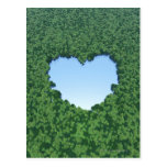 Lago en forma de corazón tarjeta postal