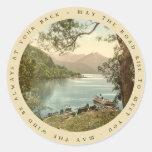 Lago en Kerry Irlanda con el pegatina irlandés del