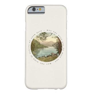 Lago en Kerry Irlanda con la bendición irlandesa Funda De iPhone 6 Barely There