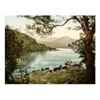 Lago en la postal de Innisfallen Killarney Irlanda