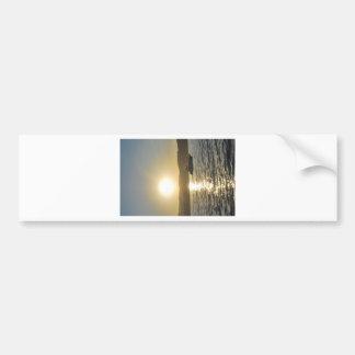 Lago en la puesta del sol pegatina para auto