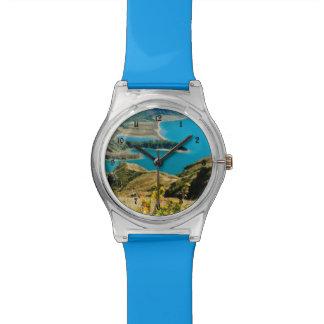 Lago en las islas de Azores Relojes De Pulsera