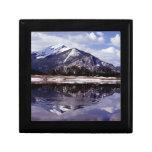 Lago en las montañas rocosas Colorado Caja De Recuerdo