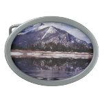 Lago en las montañas rocosas Colorado Hebilla Cinturón Oval
