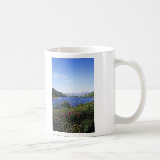 Lago escocés tazas de café