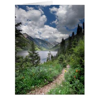 Lago esmeralda 3 - desierto de Weminuche - Tarjeta De Felicitación Grande