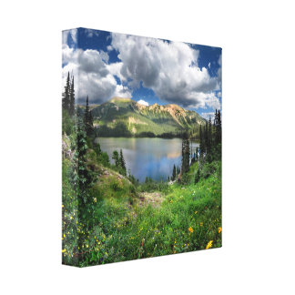 Lago esmeralda 4 - desierto de Weminuche - Impresión En Lienzo Estirada