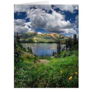 Lago esmeralda 4 - desierto de Weminuche - Tarjeta De Felicitación Grande