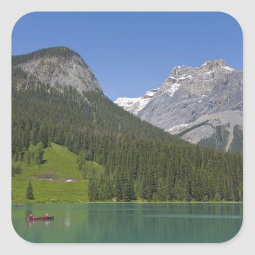 Lago esmeralda, canadiense Rockies, británicos Etiqueta